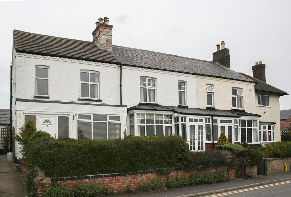 19th c houses on Wysall Lane. Nos 2, 4, 6. FWK workshop belongs to No 4