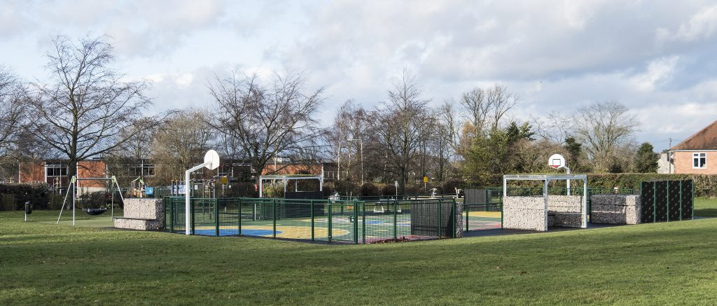 The new play-area on the Rectory Field opened in 2016.